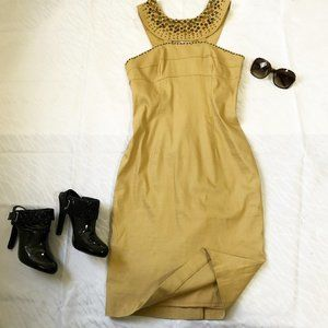 Adrianna Papell brown body con dress